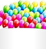 Multicolored Inflatable Celebration Bright Balloons with Frame I Stock Photography