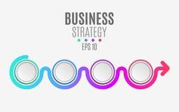 Multicolored infographic elementen voor uw projecten Lege document cirkels, banners voor tekst en symbolen Bedrijfsproject Stock Fotografie
