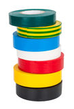 Multicolored insulating tapes roll Royalty Free Stock Photo