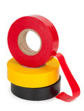 Multicolored insulating tapes roll Stock Photography