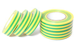 Multicolored insulating tapes on white background Stock Photography