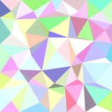 Multicolored irregular triangle tile mosaic background - polygon vector illustration Stock Photos