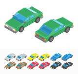 Multicolored isometric car set. Stock Image