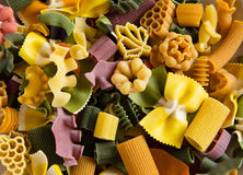 Multicolored italian pasta Royalty Free Stock Photo