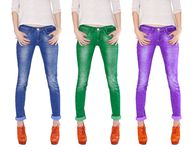 Multicolored jeans Stock Images