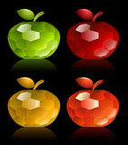 Multicolored jewel apples Stock Photo