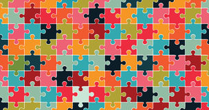 Multicolored jigsaw puzzle background Royalty Free Stock Photo