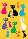 Multicolored katten Royalty-vrije Stock Fotografie