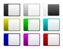 Multicolored kentekens Stock Afbeelding