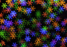 Multicolored Kerstmis Lichte Bokeh Stock Fotografie