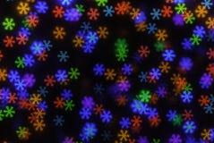 Multicolored Kerstmis Lichte Bokeh Royalty-vrije Stock Foto