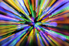 Multicolored Kerstmis Lichte Bokeh Stock Afbeelding