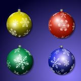Multicolored Kerstmisballen stock illustratie