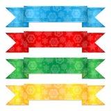 Multicolored Kerstmislinten Royalty-vrije Stock Afbeelding
