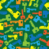 Multicolored keys of seamless pattern Royalty Free Stock Images