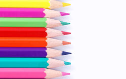 Multicolored kleurpotloden Royalty-vrije Stock Foto's