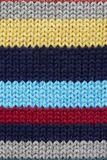 Multicolored knitted fabrick Stock Photo