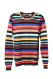 Multicolored knitted sweather for men Royalty Free Stock Photo
