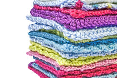 Multicolored knitting patterns Stock Image