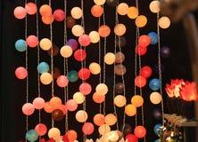 Multicolored koord van Gebeurtenis of Kerstmislichten stock foto's