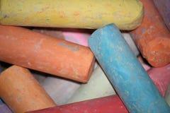 Multicolored krijt Stock Fotografie