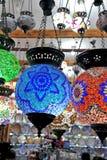 Multicolored kroonluchters Stock Afbeeldingen