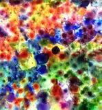 Multicolored kunstachtergrond van kunstwerk bij hotel Stock Fotografie