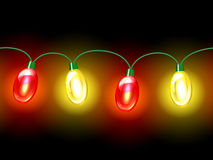 MultiColored lamp festive garland. Seamless Stock Photos