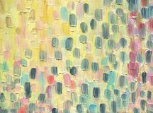 Multicolored large and coarse vertical brush strokes. Oil painti. Multicolored large and coarse vertical brush strokes. A warm range of evening sky at sunset Royalty Free Stock Photography