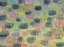Multicolored large and rough horizontal brush strokes. Oil paint. Multicolored large and rough horizontal brush strokes. A warm range of evening sky at sunset Royalty Free Stock Image