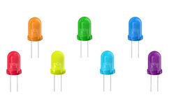 Multicolored LEDs Royalty Free Stock Images