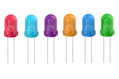 Multicolored LEDs in row Royalty Free Stock Photography