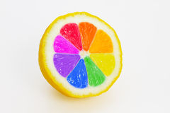 Multicolored lemon Royalty Free Stock Image