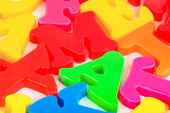 Multicolored letters Stock Photos