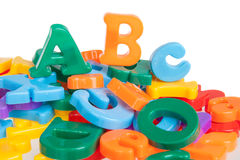Multicolored letters Royalty Free Stock Images