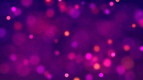Multicolored lichten met bokeh Abstracte loopable achtergrond vector illustratie