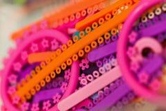 Multicolored ligatuurbanden Royalty-vrije Stock Foto's