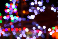 Multicolored lights bokeh background. Royalty Free Stock Photo
