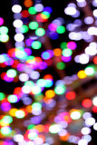 Multicolored lights bokeh background. Royalty Free Stock Photography