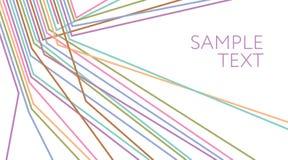 multicolored lijnen abstracte achtergrond Elektrische Draad royalty-vrije illustratie