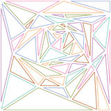 Multicolored line triangles abstract background Royalty Free Stock Photo