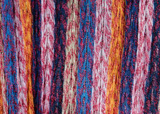 Multicolored lined scarf material Stock Photo