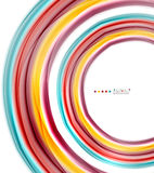 Multicolored lines on white, motion concept abstract background Royalty Free Stock Photo