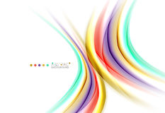 Multicolored lines on white, motion concept abstract background. Vector Royalty Free Stock Photo