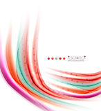 Multicolored lines on white, motion concept abstract background Royalty Free Stock Images