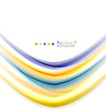 Multicolored lines on white, motion concept abstract background Royalty Free Stock Photos