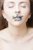 Multicolored lips Royalty Free Stock Image