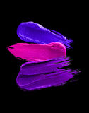 Multicolored lipstick smudge. D on a white isolated background Royalty Free Stock Photo