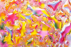 Multicolored liquid background abstraction Stock Photos