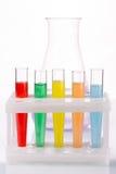 Multicolored liquid chemical tubes Stock Image